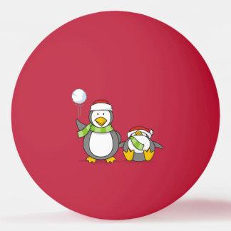 Pelota De Ping Pong Pingüinos que se agravan del navidad