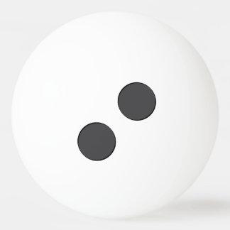 Pelota De Ping Pong Puntos gris oscuro a cuadros