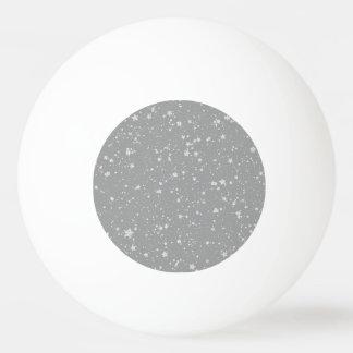 Pelota De Ping Pong Purpurina Stars4 - Plata