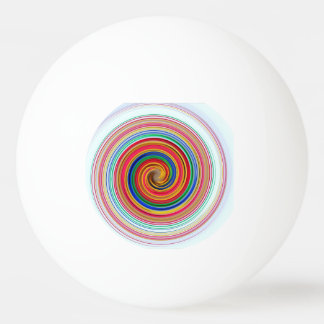 Pelota De Ping Pong Remolinos del color primario