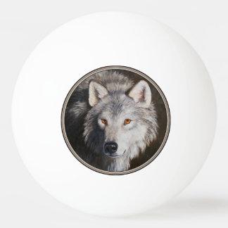 Pelota De Ping Pong Retrato del lobo gris