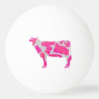 Pelota De Ping Pong Silueta de las rosas fuertes y del blanco de la