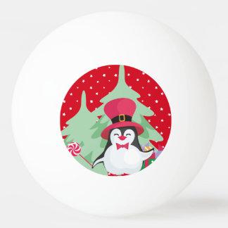 Pelota De Ping Pong Un pingüino festivo - 1
