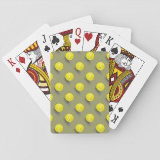 Pelota de tenis, jugador de tenis baraja de cartas