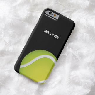 Pelota de tenis verde personalizada funda de iPhone 6 barely there