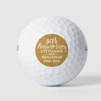 Pelotas De Golf 50.o Aniversario de boda - puede corregir color