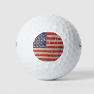 Pelotas De Golf Bandera americana resistida, apenada de los