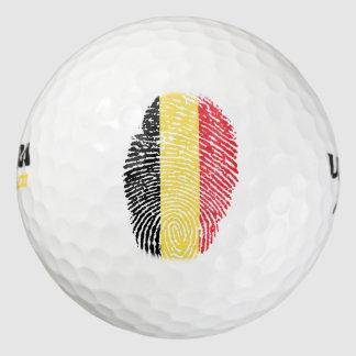 Pelotas De Golf Bandera belga de la huella dactilar del tacto