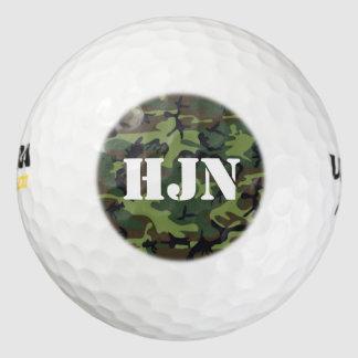 Pelotas De Golf Camo verde de encargo del logotipo w/Army del