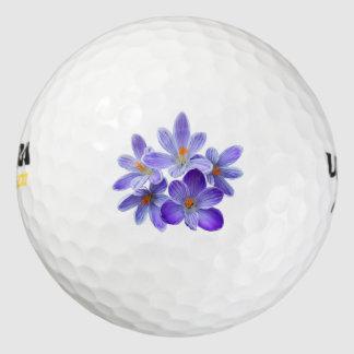 Pelotas De Golf Cinco azafranes violetas 05,0, saludos de la