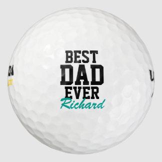 Pelotas de golf cones monograma del día de padre