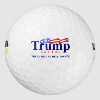 Pelotas de golf del triunfo (habrá el Toupee del