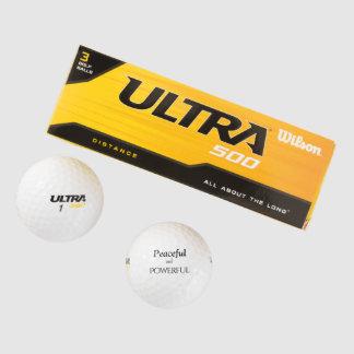 pelotas de golf enérgicas e inspiradas