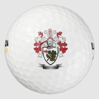 Pelotas De Golf Escudo de armas del escudo de la familia de
