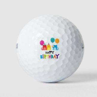 Pelotas De Golf Feliz cumpleaños