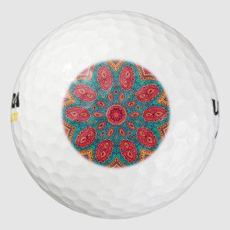 Pelotas De Golf Modelo anaranjado del zen del trullo rosado