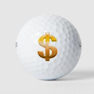 Pelotas De Golf Muestra de dólar de la pendiente de Brown