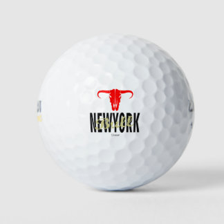Pelotas De Golf NYC New York City Bull por VIMAGO