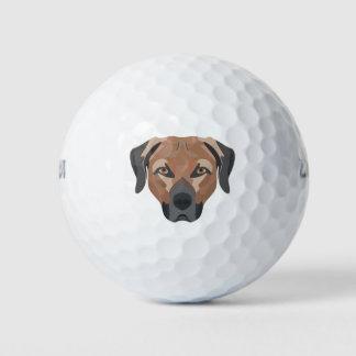 Pelotas De Golf Perro Brown Labrador del ilustracion