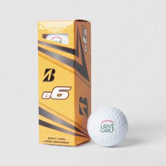 Pelotas de golf personalizadas del amor de