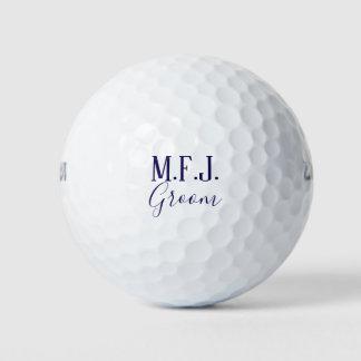 Pelotas De Golf Recuerdo del novio del monograma