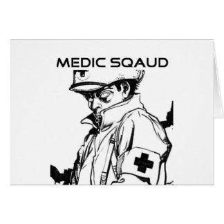 pelotón del médico tarjeta