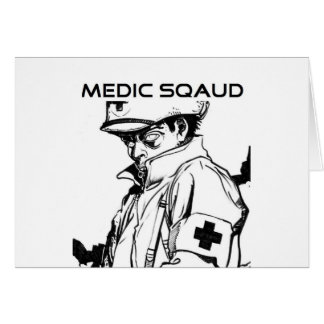 pelotón del médico tarjeta de felicitación