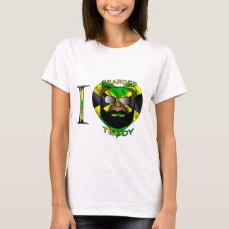 Peluche barbudo Jamaica de las señoras LUV Camiseta