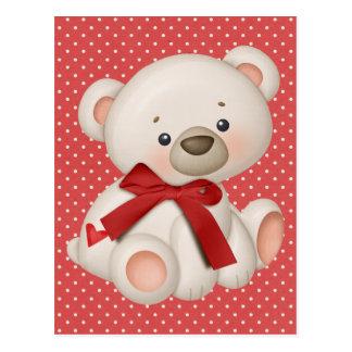 Peluche de la tarjeta del día de San Valentín Postal