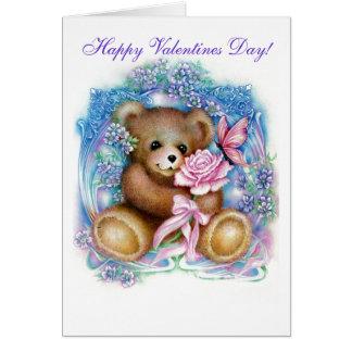 ¡peluche, día de San Valentín feliz! Tarjeta De Felicitación