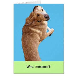 Peluche la tarjeta de cumpleaños divertida del