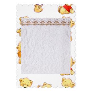 peluches, peluche del amor, osos de peluche, invitación 12,7 x 17,8 cm