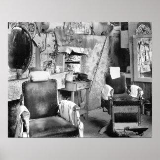 Peluquería de caballeros de Atlanta, 1936 Poster