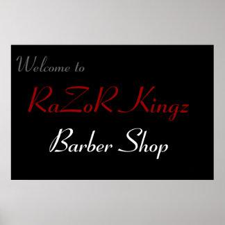 Peluquería de caballeros de Kingz de la maquinilla Poster