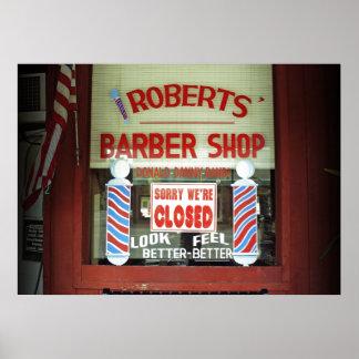 Peluquería de caballeros de Roberts Póster