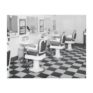 Peluquería de caballeros ejecutiva, 1935 impresión en lienzo estirada