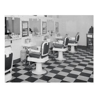 Peluquería de caballeros ejecutiva, 1935 postal