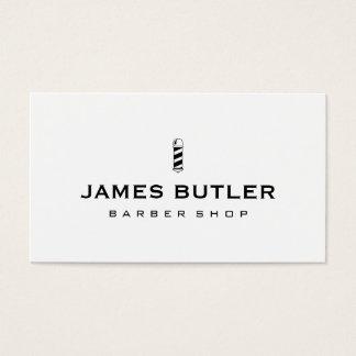Peluquería de caballeros minimalista tarjeta de visita