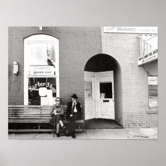 Peluquería de caballeros Watertown Tennessee Póster