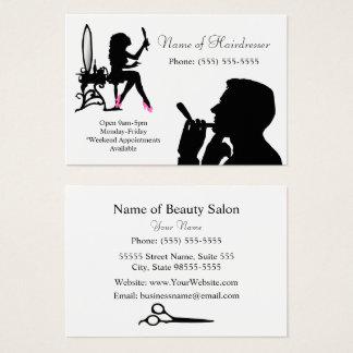 Peluquero blanco y negro para los hombres y las tarjeta de visita