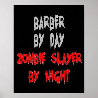 Peluquero del asesino del zombi póster