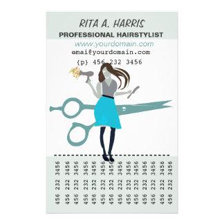 Peluquero del Hairstylist del salón de belleza de Folleto 14 X 21,6 Cm