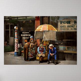 Peluquero - en la peluquería de caballeros 1937 de póster