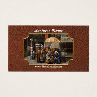 Peluquero - en la peluquería de caballeros 1937 de tarjeta de negocios