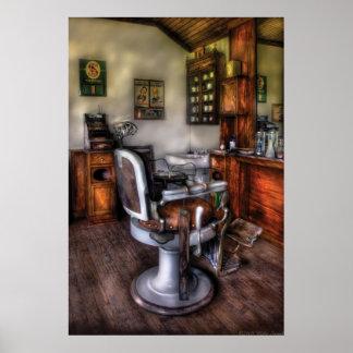 Peluquero - la silla de peluquero póster