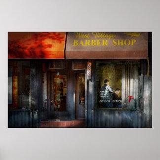 Peluquero - NY - peluquería de caballeros del oest Posters