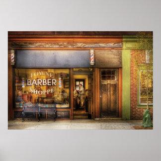Peluquero - peluquería de caballeros de Towne Póster