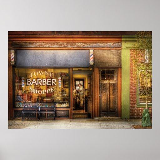 Peluquero - peluquería de caballeros de Towne Posters
