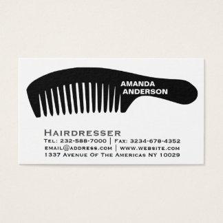 peluquero tarjeta de visita