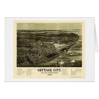 Pen¢ascos del roble, mapa panorámico del mA - 1890 Felicitaciones